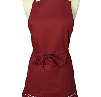 Red – As Seen on Shark Tank – The Smart Baker Cheat Sheet Baking Apron with Measurement Conversions
