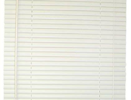 DESIGNER'S TOUCH 1-Inch Vinyl Mini Blinds, White, 38X72 In. – 833421