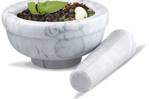 Sagler mortar and pestle set Marble Grey 3.75 inches diameter