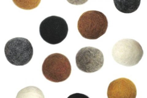 Dimensions Felt Embellishments, Earth Tone Balls, 12 pieces