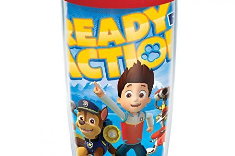 Paw Patrol Tumbler with Wrap and Red Lid 16oz, Clear – Tervis 1169190 Nickelodeon