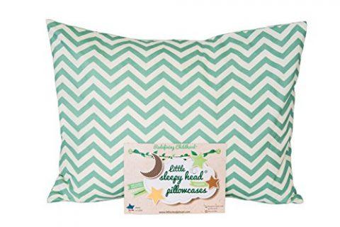 Little Sleepy Head Toddler Pillowcase – Organic Collection Chevron Teal