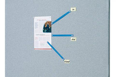 Quartet Bulletin Board, 3 x 2 Feet, Frameless, Fabric, Office Bulletin Boards, Gray 7683G