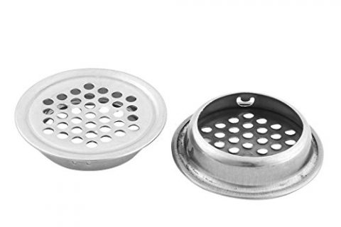 uxcell Stainless Steel Round Sink Strainers 35mm Diameter 2 Pcs