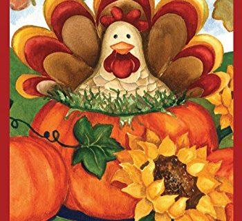 Toland Home Garden Autumn Turkey 12.5 x 18 Inch Decorative Fall Thanksgiving Holiday Pumpkin Garden Flag