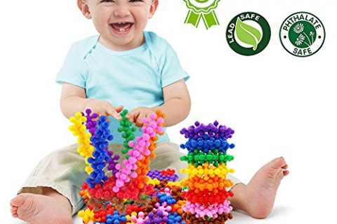 Building Blocks, FIOLOM Educational Interactive Plum Blossom Building Toys Bright Multicolor Building Construction Toys Solid Plastic Preschool Puzzles Set for Boys, Girls, Kids and Toddlers  90 PCS