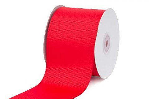 Creative Ideas 3″ Solid Grosgrain Ribbon, 25 yd, Red