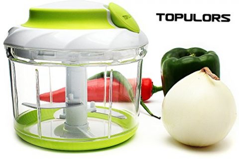 2018 Hot Sale 34OZ Manual Food Chopper Hand-Powered Food Chopper Compact Handheld Onion Chopper, Garlic Squeezer, Ginger Slicer, Pepper Cut, Herbs Chop, Cheeses Chopper Masher