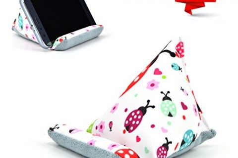 Fabric Phone Stands,Phone Pillow Holder for iPhone 8 ,Phone Sofa Bean Bag Cushion Ladybird