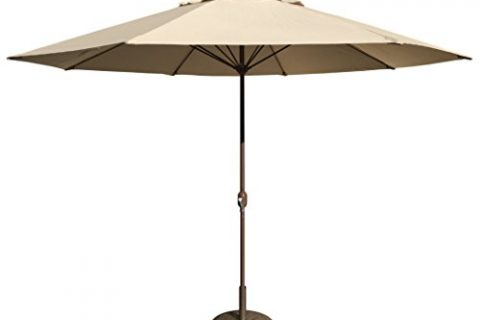 Tropishade 11′ Umbrella with Premium Beige Olefin Cover