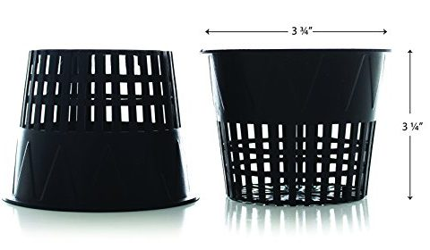 20 Pack – Milliard 3.75in. Hydroponic/Orchid Slotted Net Pot / Net Cup