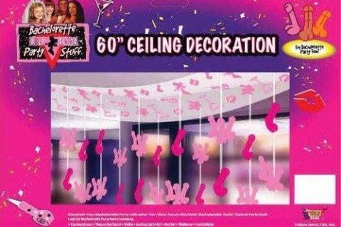 Forum Novelties Outta Control Bachelorette Party Collection Ceiling Decoration, 60-Inch