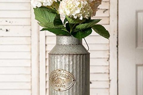 Vintage Industrial Farmhouse Chic Flowers and Plants Can with Handle Does Not Come With Flowers