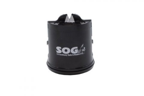 SOG Countertop Sharpener Gear SH-02 2.5″ Tall, Suction Bottom, Black