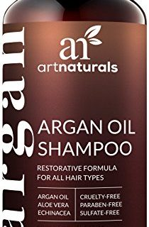 Moisturizing, Volumizing Sulfate Free Shampoo for Women, Men and Teens – Used for Colored and all Hair Types, Anti-Aging Hair Care, 16 Ounce Bottle – Art Naturals Organic Moroccan Argan-Oil Shampoo