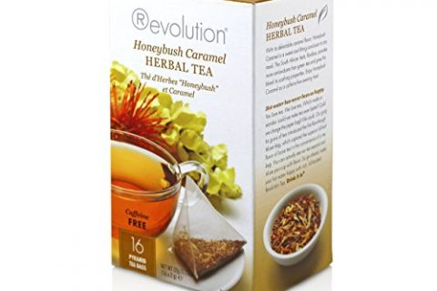 Revolution Tea Honeybush Caramel Herbal Tea, 16 Count