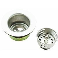 Keeney 878PC Bar Sink Strainer, Stainless Steel