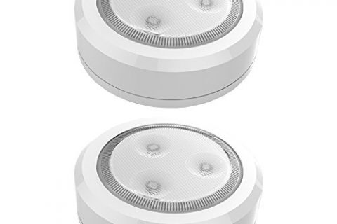 Brilliant Evolution BRRC113 Wireless Ultra Thin LED Puck Light 2 Pack – Operates On 3 AAA Batteries – Kitchen Under Cabinet Lighting