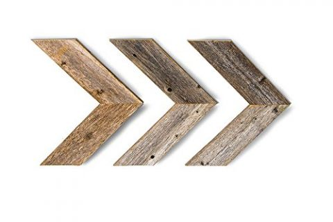 Set of 3 Chevron Arrows Made From 100% Reclaimed and Recycled Wood and Comes With FREE Mounting Hardware – BarnwoodUSA Rustic Wood Wall Decor