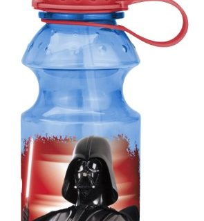 Zak! Designs Tritan Water Bottle with Flip-up Spout with Classic Star Wars Graphics, Break-resistant and BPA-free plastic, 14 oz.