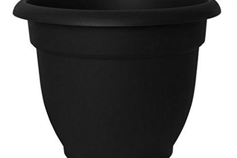 Fiskars 12 Inch Ariana with Self-Watering Grid, Black