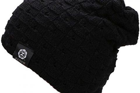 zenco Men/Women's Winter Handcrafted Knitted Baggy Slouchy Beanie Hat Black