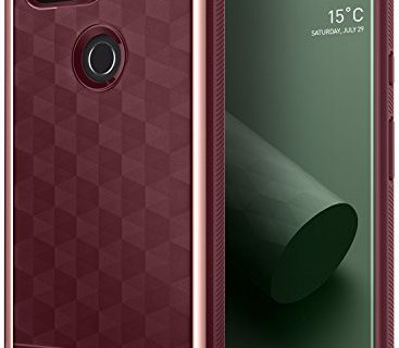 Burgundy – Google Pixel 2 XL Case, Caseology Parallax Series Slim Protective Dual Layer Cover Geometric Design for Google Pixel 2 XL 2017