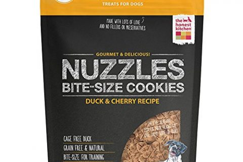 Honest Kitchen The Nuzzles: Natural Hand-Baked Grain-Free Duck & Cherry Dog Treat Cookies, 12 oz, 1 Count