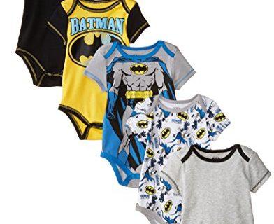 Warner Brothers Baby Boys' Batman Bodysuit Pack Of Five