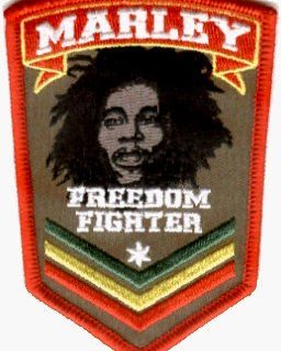 Freedom Fighter Logo – Bob Marley – Embroidered Iron On or Sew On Patch