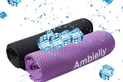 Ambielly Cooling Towel for Instant Relief,2-Pack40″x12″ Stay Cool Fitness Golf Ice Towels ,Ideal for Running Yoga Gym Travel Camping Biking Hiking Working & Outdoor Sports SD3000C