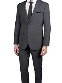 Alain Dupetit Men's Two Button Slim Regular Fit Suit in Many Colors