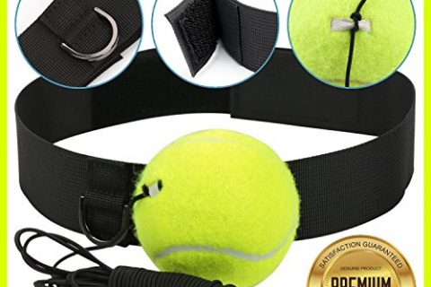 Fight Ball Reflex | Boxing Balls on String with Headband Training Speed Reaction Set Kit Hat Head Band Tennis Refex Punching Focus Reflexes Trainer Practice Punch Fitness Gym Boxer Cap Kids by POAGL