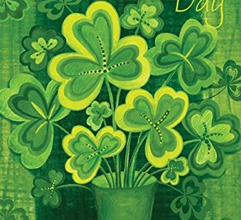 Toland Home Garden Shamrockin' 12.5 x 18 Inch Decorative Happy St Patrick's Day Shamrock Clover Garden Flag