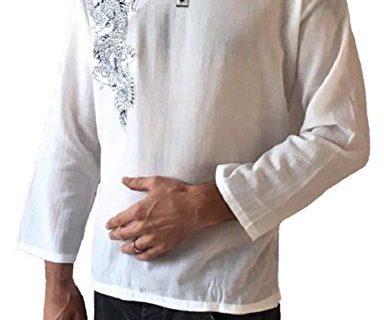 Men's Light Weight 100% Cotton Dragon Shirt XL