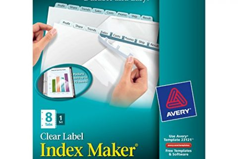 Avery Index Maker Translucent Dividers with Clear Labels,
