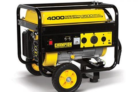 Champion 3500-Watt RV Ready Portable Generator with Wheel Kit