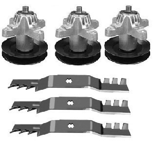 MTD Cub Cadet Spindle 618-04126 / 918-04126A Set of 3 & 50″ Blades