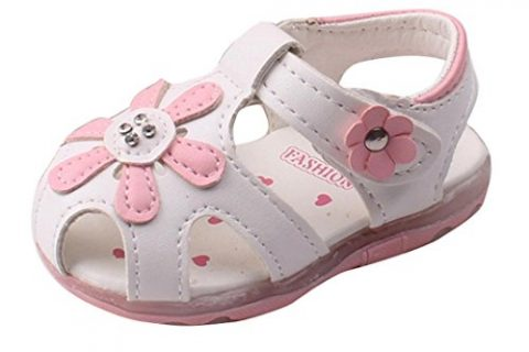 Voberry Toddler Baby Kid Girls' Soft-Soled Princess Sandals 0-0.5Years, White