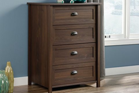 Sauder County Line 4-Drawer Chest with Rum Walnut Finish