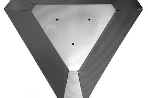 Hiland Glass Tube Heat Shield, 22″ Triangle
