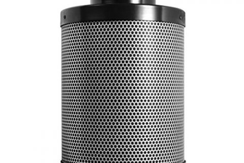 Activated Charcoal Carbon Filter 4″ x 12″, Up to 200 CFM, Premium Grow Tent Odor Scrubber, 1.8″ Extra Thick Layer of Top Grade Activated Australian Virgin Charcoal-Great For Hydroponics and Growing