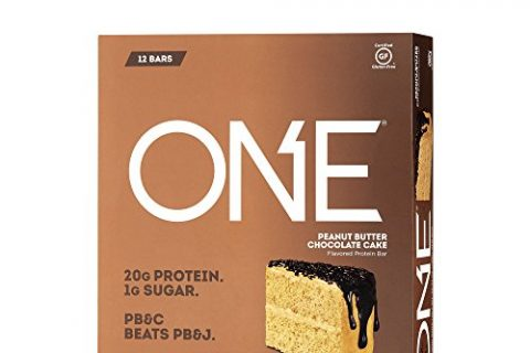 ONE Protein Bar, Peanut Butter Chocolate Cake, 2.12 oz. 12 Pack, Gluten-Free Protein Bar with High Protein 20g and Low Sugar 1g, Guilt Free Snacking for Healthy Diets