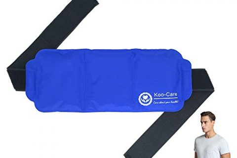 15″ x 5.9″ – Great for Injury, Sprain, Bruise – Koo-Care Large Ice Pack Gel Hot Cold Therapy Pack – Wraps around Shoulder, Waist & Lower Back, Belly, Thigh, Knee, Shin, Ankle