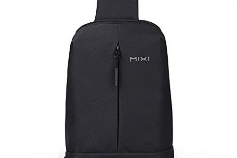 Oscaurt Sling Bag Shoulder Backpack CrossBody Chest Bags Daypack with USB Charging Port for Sport Travel Work Black for for Men & Women