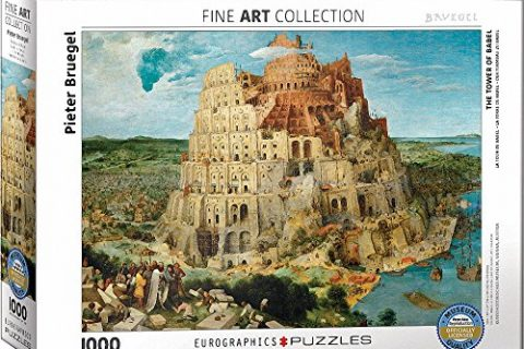 EuroGraphics The Tower of Babel by Pieter Brueghel 1000 Piece Puzzle