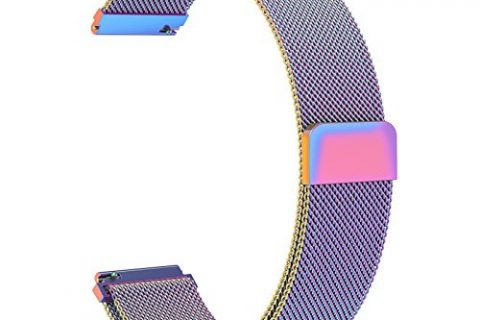 SWEES Gear S3 Frontier/Classic Bands Metal Small & Large, 22mm Milanese Stainless Steel Replacement Wristband for Samsung S3 Smart Watch Women Men, Black, Silver, Blue, Grey, Colorful, Rose Gold