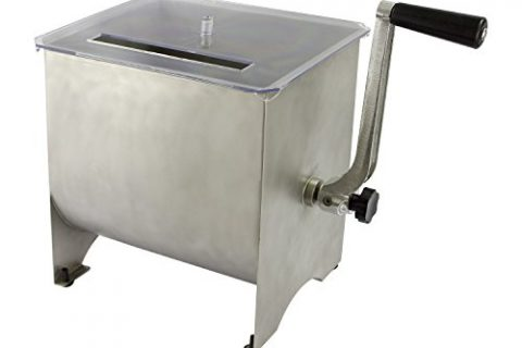 Chard MM-102 Meat Mixer with Stainless Steel Hopper, 20 lbs.