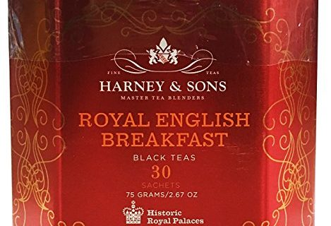 30 Sachets, 2.67 Ounces – Harney & Sons Royal English Breakfast Tea Tin – High Quality Blend of Black Teas, Great Present Idea