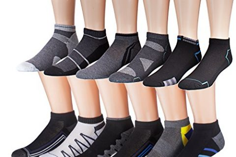 James Fiallo Men's 12-Pairs Low Cut Athletic Sport Peformance Socks, sock size 10-13 Fits shoe size 6-12, 2885-94
